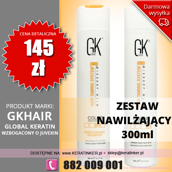 Color protection moisturizing set Global Keratin Juvexin GK Hair - sklep warszawa